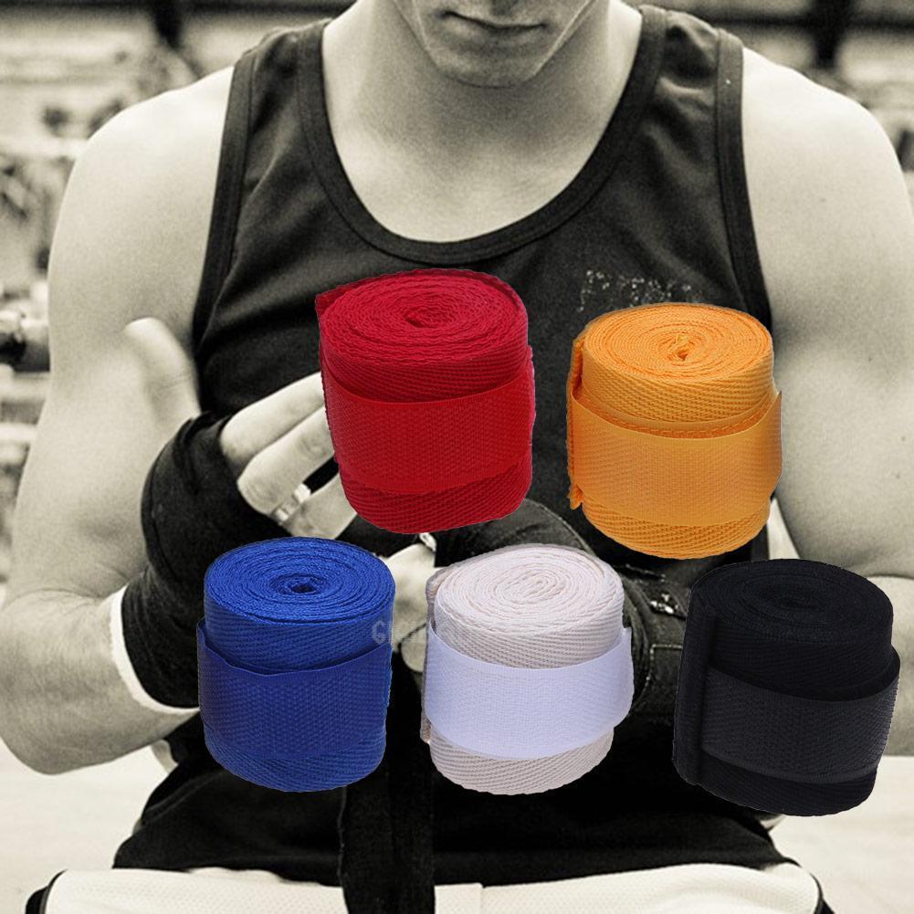1 X Box Sports Strap Boxing Bandage Muay MMA Taekwondo Hand Gloves Wraps New