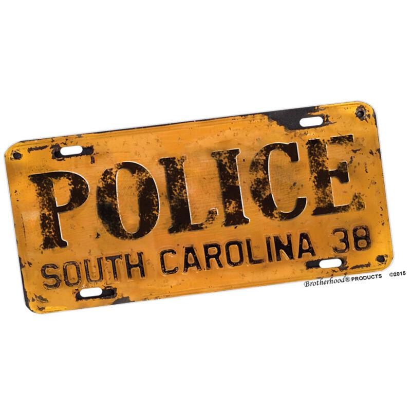 1938 North Carolina License Plate Design POLICE Aluminum License Plate Novelty