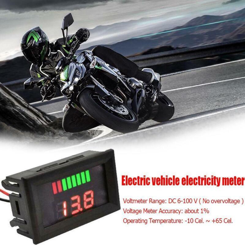 LED Digital Voltmeter 12V-60V Car Marine Motorcycle Voltage