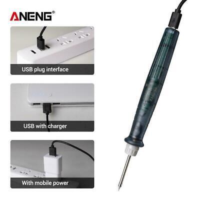 Mini Portable Soldering Iron Pen Kit Indicator 5v 8w Usb Powered Welding Mini Zb