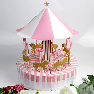 Ribbon Carousel Candy Box Sweets Gift Boxes Wedding Party Baby Shower Birthday  - Baby Shower Sweets