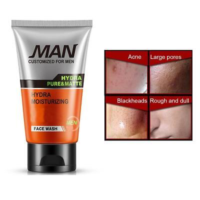 Men Scrub Facial Cleanser Moisturizing Whitening Skin Face Wash Care Oil Control