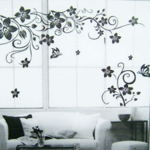 Home Decoration - Wall Sticker Decal Butterfly flower Vine Self-Adhesive Home Decoration Mural Art