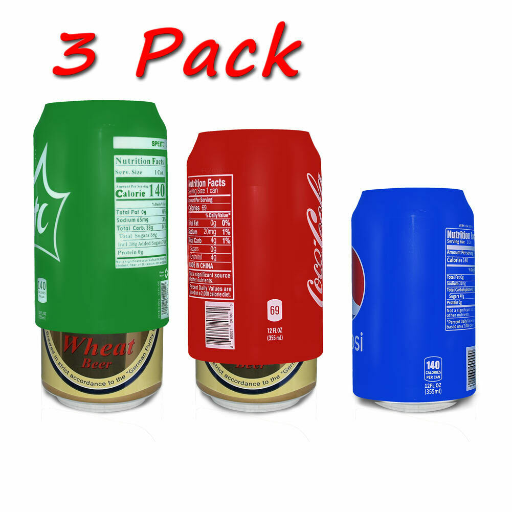 Beer can covers 3 pack, silicone beverage sleeve hide a beer