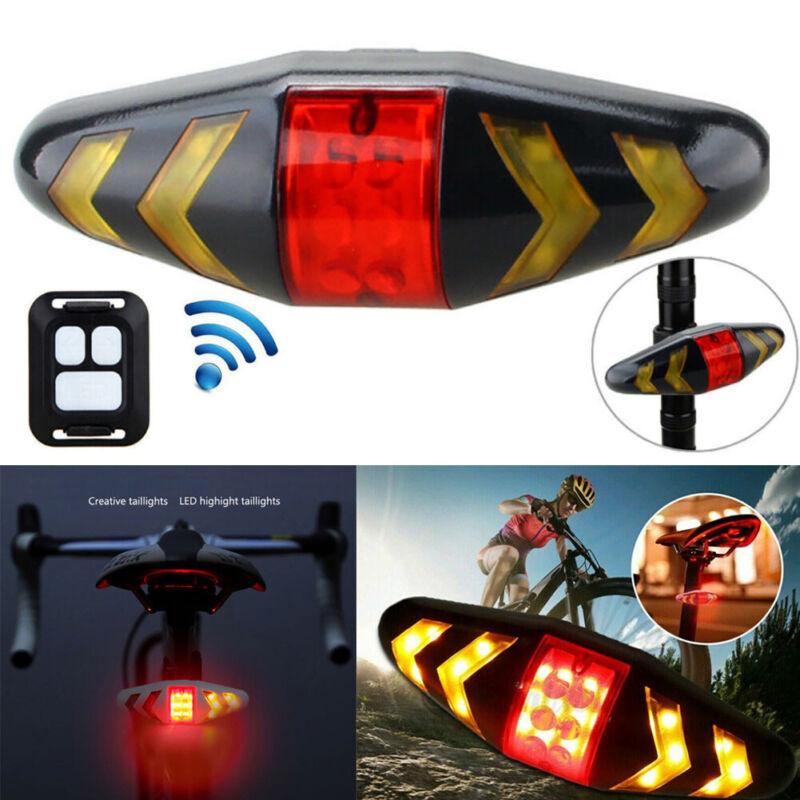 Wireless Bicycle Bike Rear LED Tail Light Remote Control 5 Mode Turn Signal USB