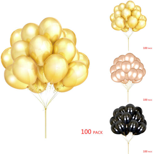 100PCS/Pack Gold Balloons 12 In Wedding Birthday Party Decor