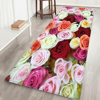 Nice Rose Flower Pattern Carpet Floor Non Slip Mat For Livin