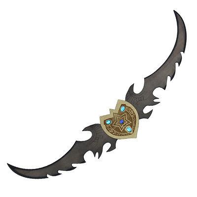Elf Betrayer Night Wooden Collectible Twin Blade Video Game Costume Sword