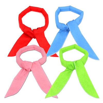 (4 x Neck Cooler Scarf Body Ice Cool Cooling Wrap Necktie Headband Bandana US)