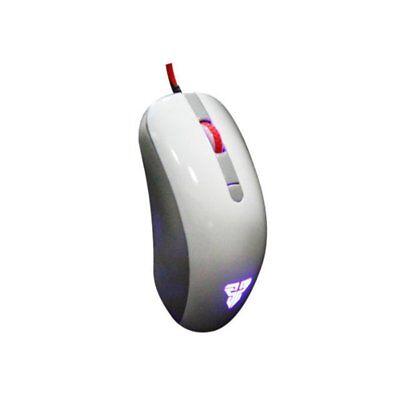 Mouse da Gioco con Cavo USB ventilato Bianco, LED design 4 modalità 2400 DPI