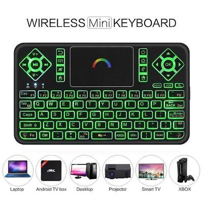 Best Colorful Backlit Mini Wireless Keyboard with Touchpad Mouse Q9 2.4GHz