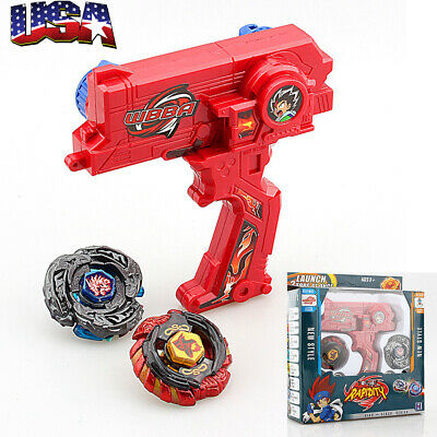 Rare 4D Launcher Kids Grip Beyblade Set Metal Master Fusion Top Rapidity Fight