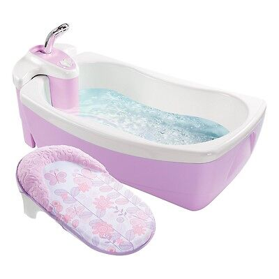 Summer Infant Lil' Luxuries Whirlpool, Bubbling Spa & Shower (Pink)