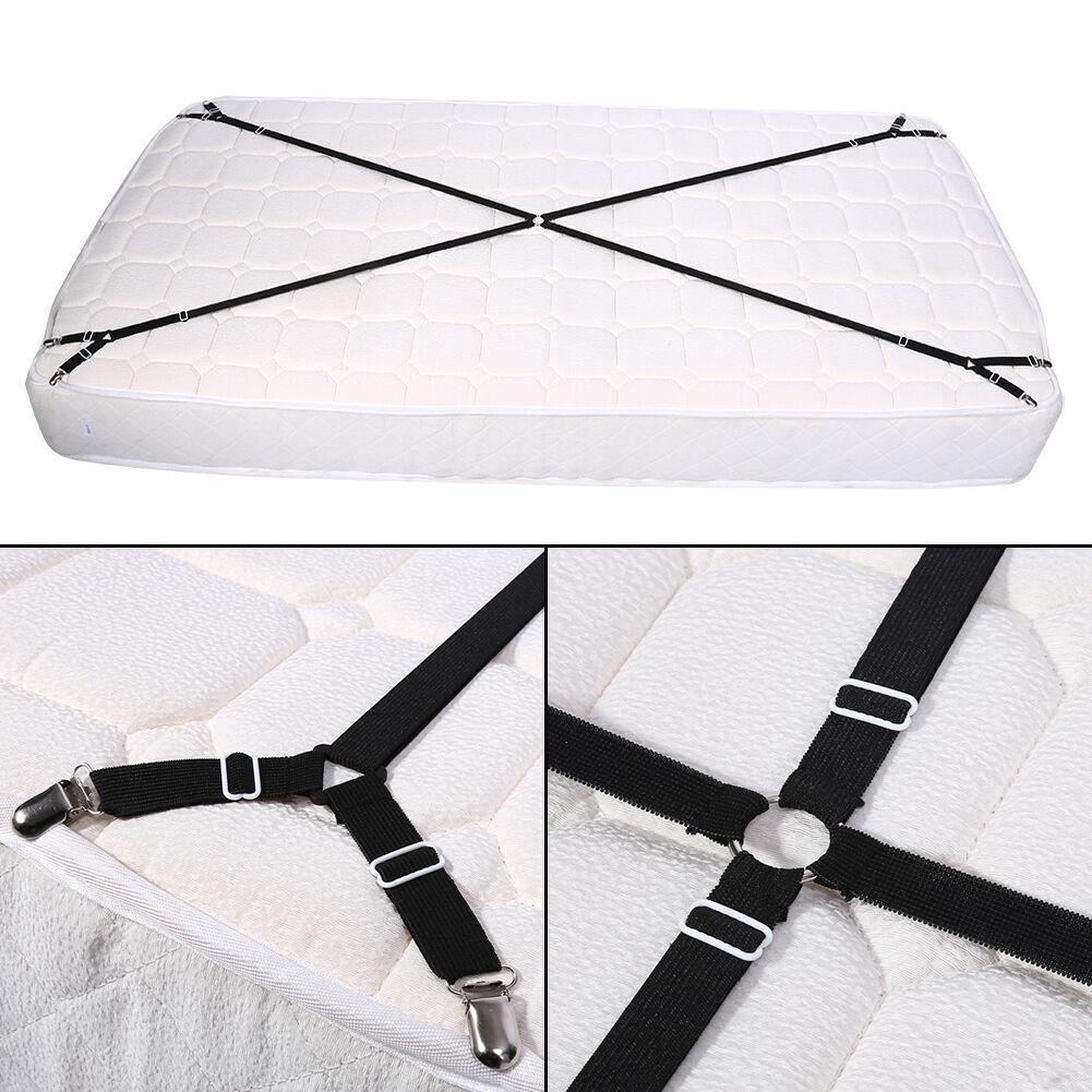 Nylon elastic criss cross mattress sheet strap clip