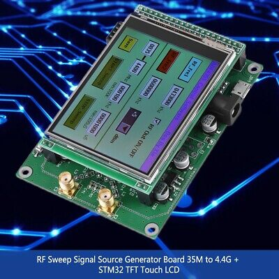 Adf4351 Rf Sweep Signal Source Generator Board 35m-4.4gstm32 Tft Touch Lcd