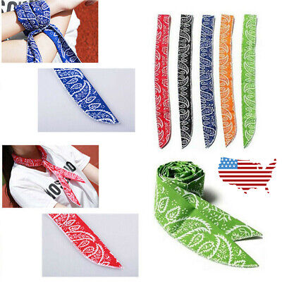 Hot Summer Body Ice Cool Cooling Wrap Necktie Sport Headband Neck Cooler Scarf (Body Ice)