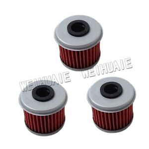 3 X Oil Filter For Honda TRX450R TRX450ER 2006 2007 2008 2009 Motorcycle