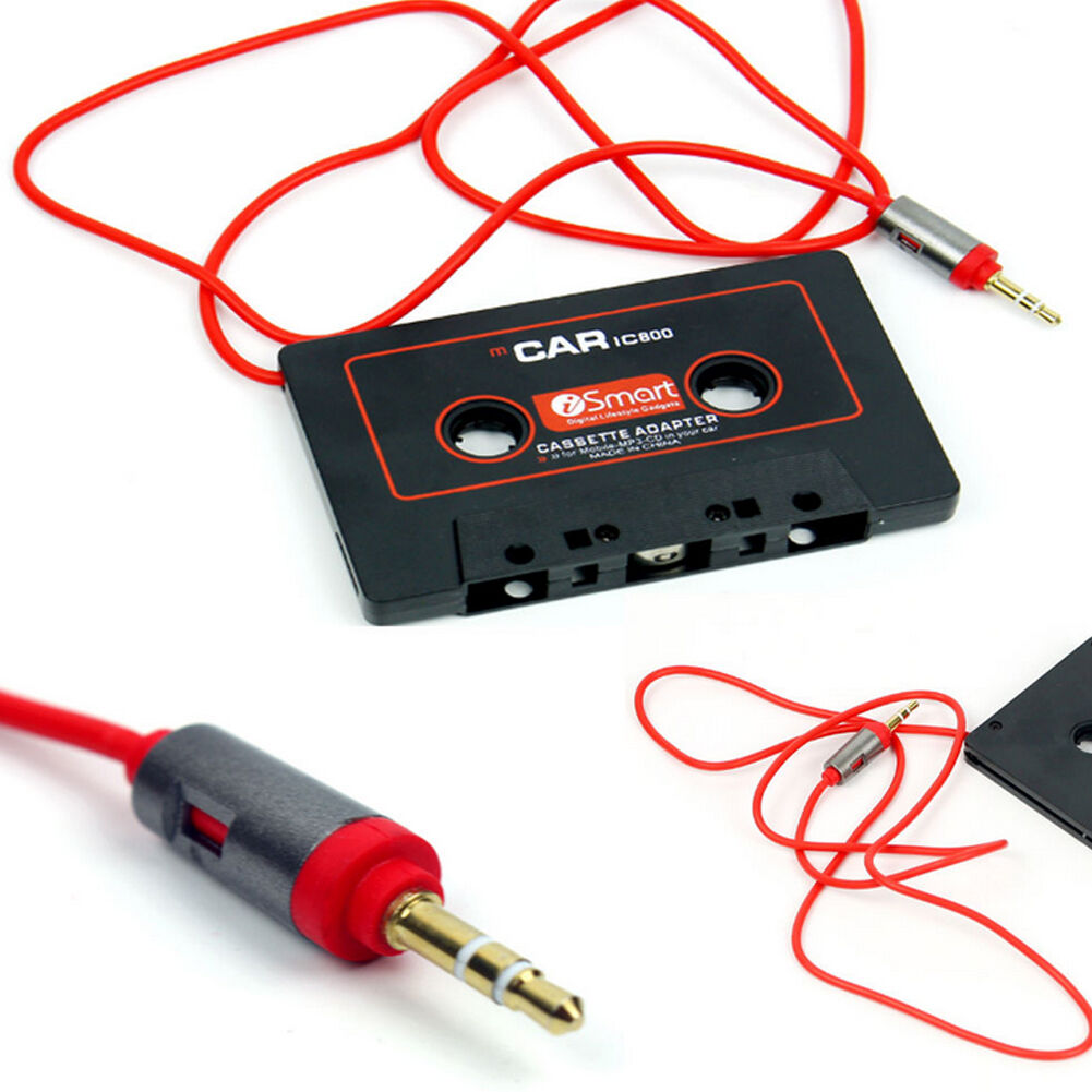 audio cassette tape adapter aux cable cord jack for to mp3 ipod cd player. Black Bedroom Furniture Sets. Home Design Ideas
