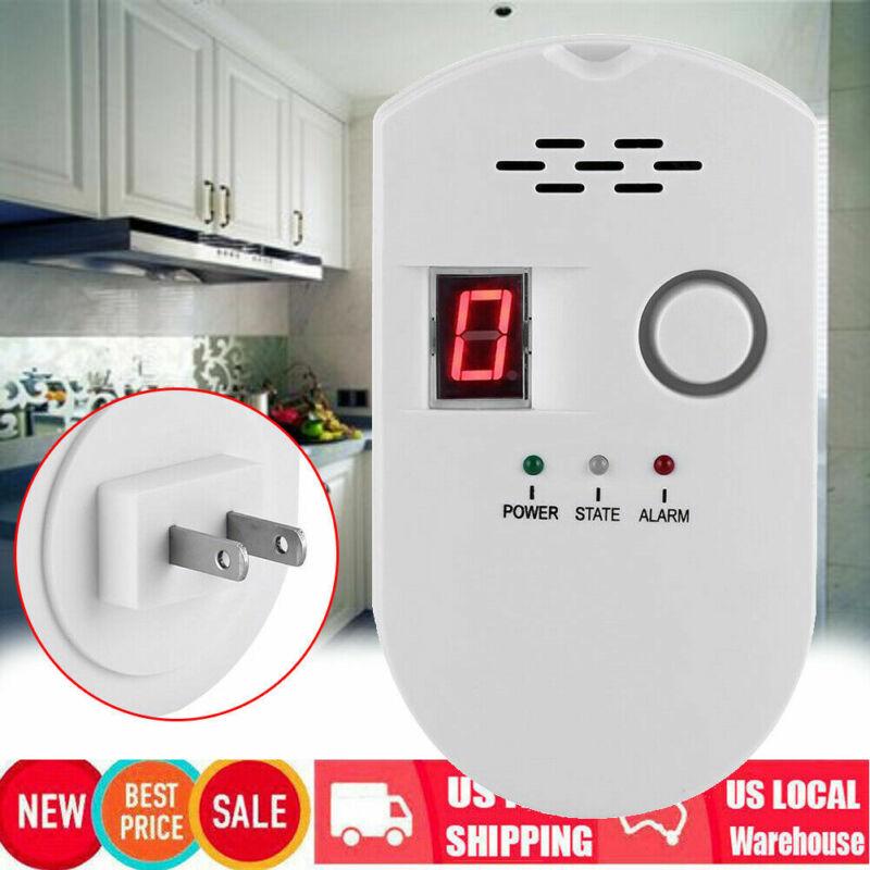 Digital Gas Leak Detector Alarm Sensor Propane Butane Methane Natural Gas US