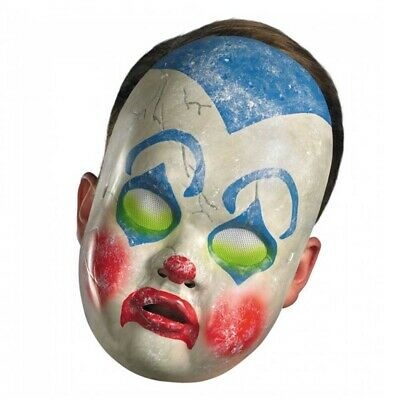 Possessed Baby Halloween Costume (Clown Doll Mask Baby Scary Evil Possessed Vinyl Costume Halloween)