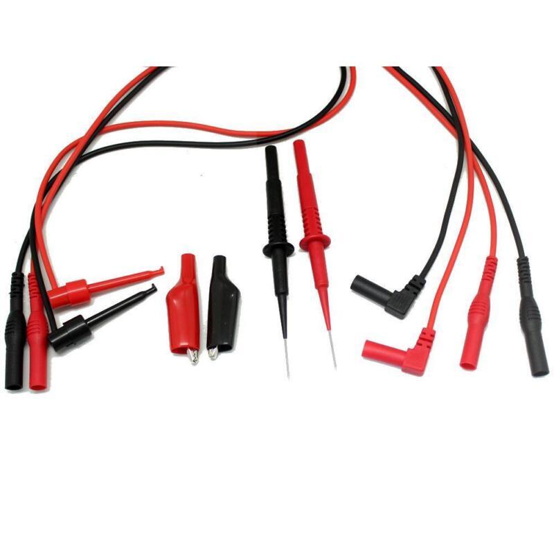Needle tip FLUKE test lead mini-hooks alligator clips PVC extensions TLP20155