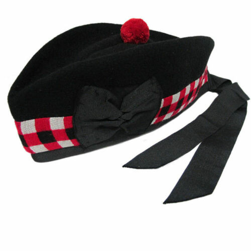 SCOTTISH CLASSIC TRADITIONAL DICED GLENGARRY NOVELTY HAT ( ONE SIZE )