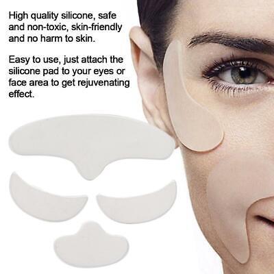 Stirn Falten (4er Silikon Pad Anti-Falten Skin Lifting Gesichtspad for Stirn / Augen / Kinn)