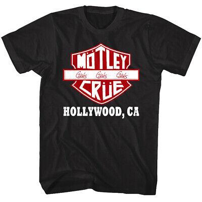 California Girls T-shirt (Motley Crue Girls Road Sign Men's T Shirt Hollywood California Heavy Metal Biker)