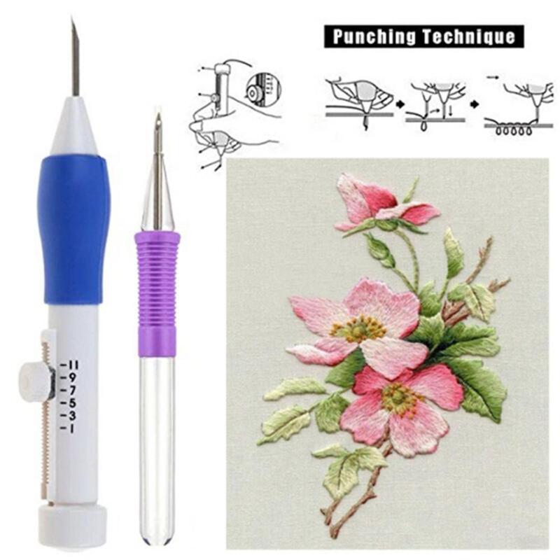 1.3//1.6//2.2mm Diameter Embroidery Needle Weaving Tool Magic Embroidery Pen Kit B