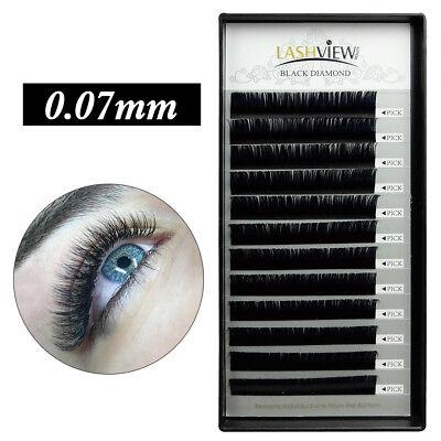 LashView 3D Volume Eyelash Extensions Individual Lash B C D 0.07mm Best
