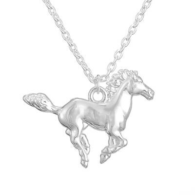 Lovely Pony Running Horse Pendant Gift Necklace for Equestrian Girl Animal Lover - Horse Gifts For Girls