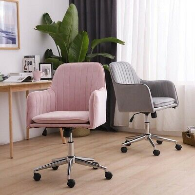 Velvet Home Office Chair Swivel Line Stripes Tufted Upholstered Computer Chairs
