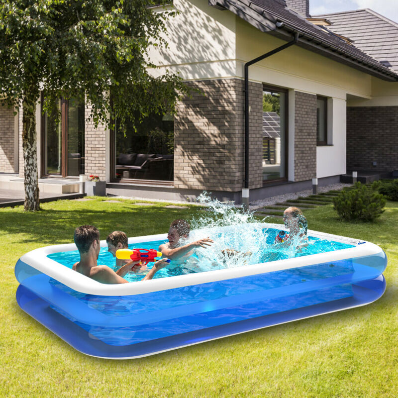 """10 Ft x 20"""" Prompt Set Inflatable Swimming Pool Outdoor Backyard Family Swimming"""