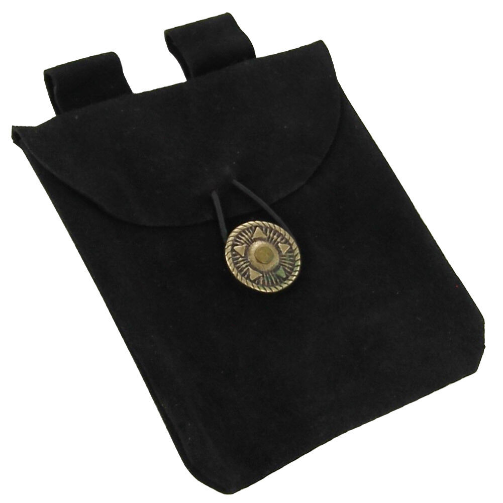 Medieval Peasant's Greed Suede Renaissance Belt Coin Pouch