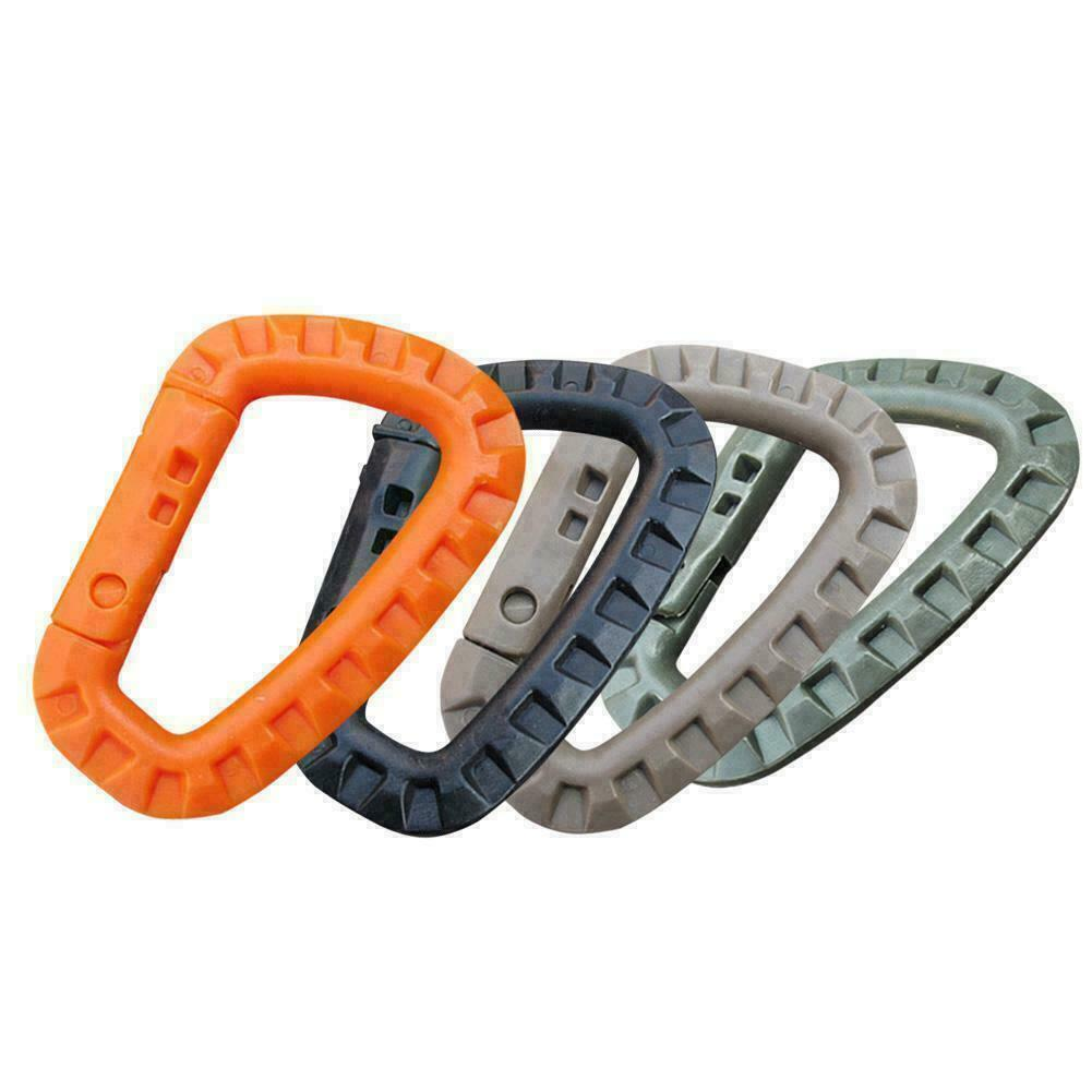 Double S-Biner Carabiner Shaped Clip Hook Keyring Camping 8 Shape Clasp Gif T5F7