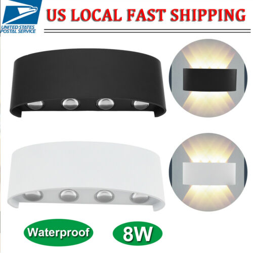 8W LED Wall Hanger Light Sconce Up Down Lamp Indoor Outdoor