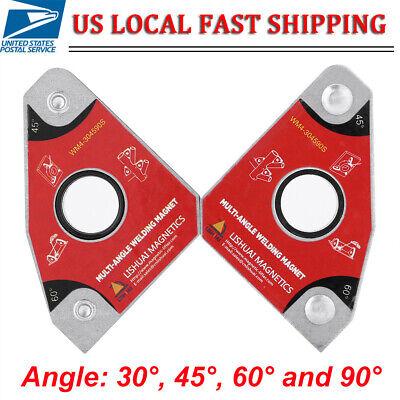 Hot 2pcs Magnet Welding Clamp Magnetic Holder Fixer Welder Tool 306090 Degree
