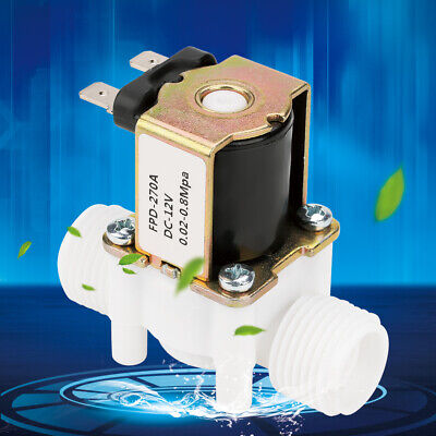 12v G12 Plastic Electrical Inlet Solenoid Water Valve Dispense Normally Closed