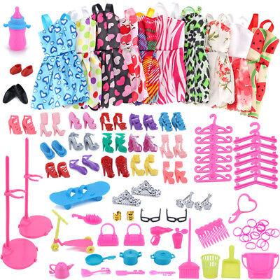 Puppen Dress Up Kleidung Kleider Minikleid Zubehör Partymode Für Barbie Doll