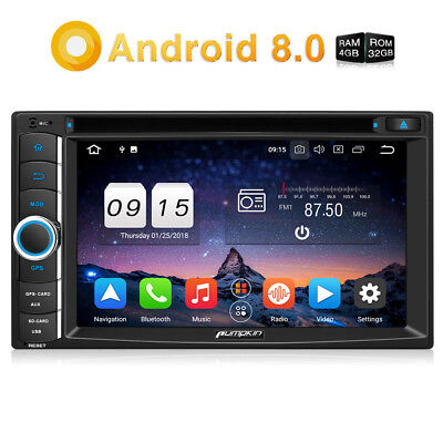 Pumpkin Android 8.0 Car Stereo 2DIN GPS DAB 4GB 32GB Bluetooth USB FM Radio WiFi