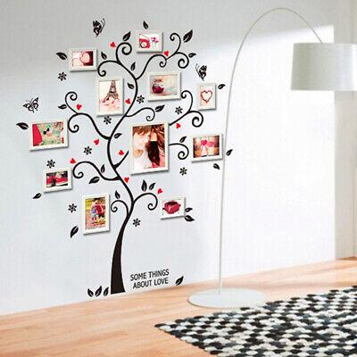 Home Decoration - DIY Family Photo Frame Tree Wall Sticker Home Decor Living Room Bedroom Wall