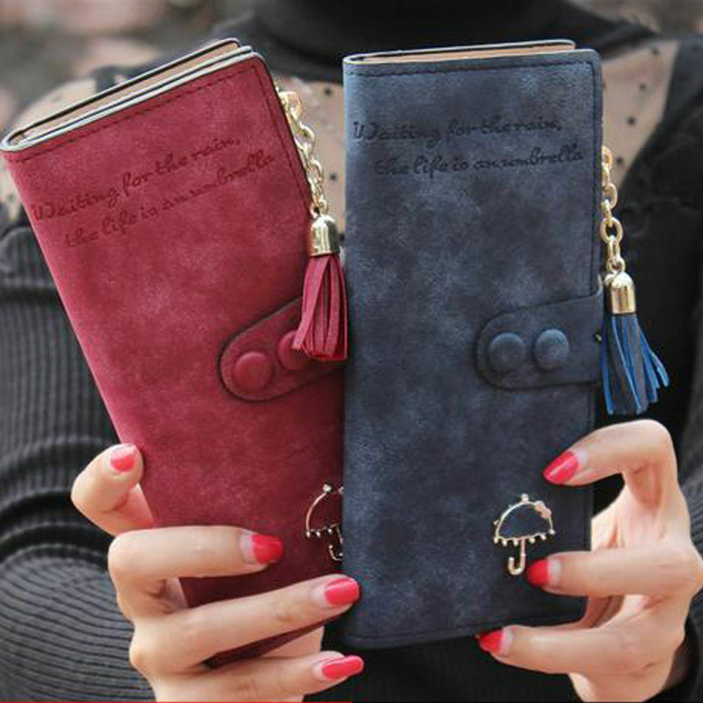 Fashion Women Soft Leather Zipper Clutch Long Wallet Card Holder Purse Handbag Clothing, Shoes & Accessories