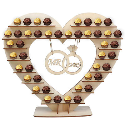 Wodden Ferrero Rocher Stand Wedding Chocolate Heart Display Stand Centerpiece