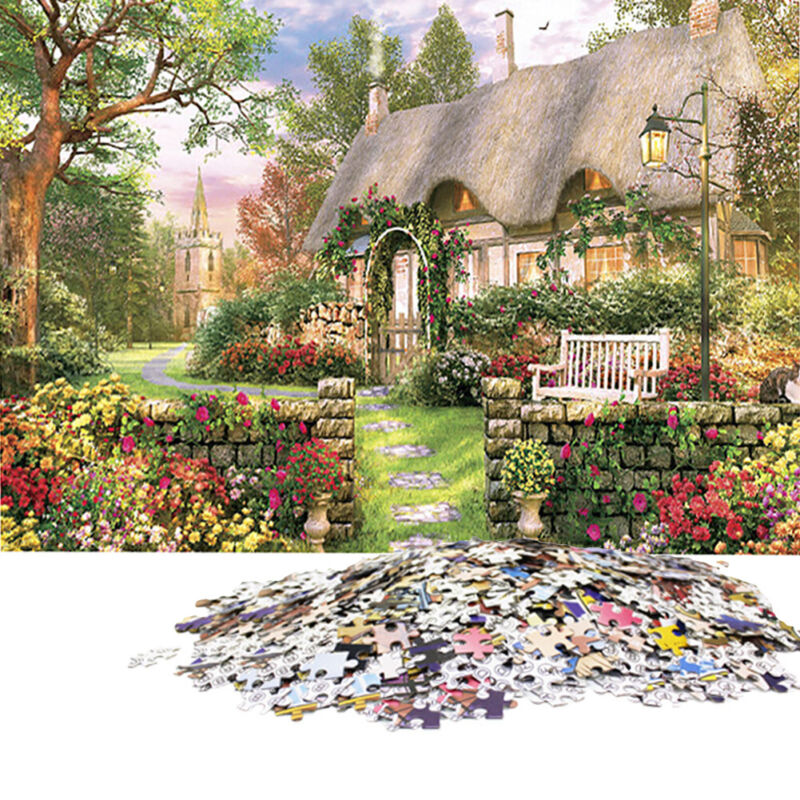 British Cottage Puzzles 1000 Pieces Jigsaw Paper Decompression Game Adults Kids