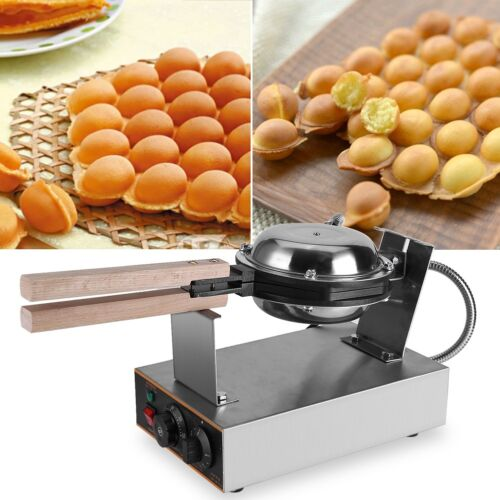 Stainless Electric Bubble Egg Cake Maker Oven Non Stick Waff