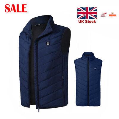 Electric Vest Heated Cloth Jacket USB Warm Up Heating Pad Body Winter Warmer