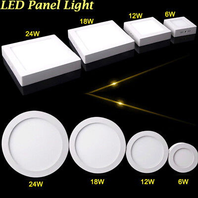 24W 18W 12W 6W LED Ceiling Panel Down Light Surface Mount Lamp Fixture - Surface Downlight