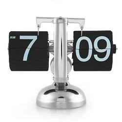 Retro Flip Down Clock Modern Desk Auto Digital Gear Black Page Classic Vintage