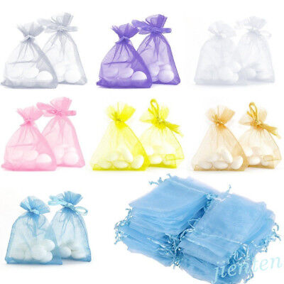 Lots 50PCS Organza Jewelry Packing Mesh Pouch Wedding Favor Supplies Gift -