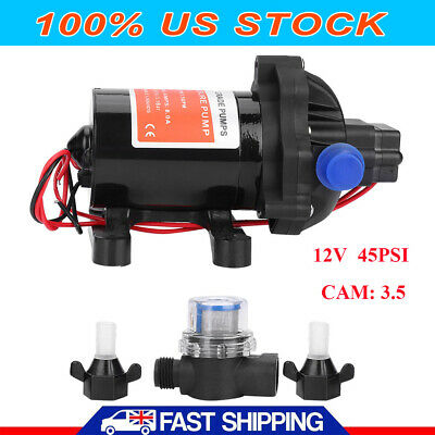 12v 3.5gpm Self-priming Diaphragm Water Pump 45psi Caravanmarinerv